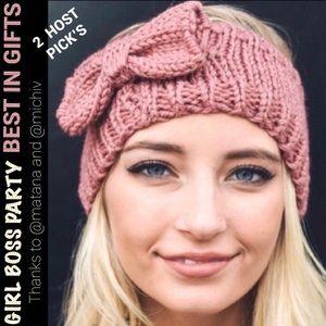 !HOST PICKx2! Rose Knit Headband